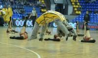 Cheerleaders BC 'Kyiv' while playing with BC 'Gaz Metan Medias' (05.11.13)