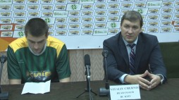 After-game comments  Head Coaches of BC 'Kyiv' and BC 'Gas Metan Medias'  (05.11.13)